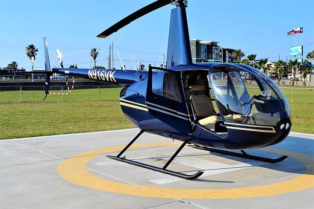 modrý vrtulník